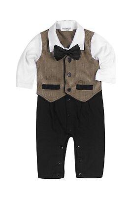 New Boy Formal Tuxedo Suit - Baby Boy Formal*Party*Wedding*Tuxedo 1pc Houndstooth Waistcoat Suit