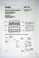 Saba Ultra Hifi-center 1100 Stereo Diagramma Servizio/manuale/diagramma O53 -  - ebay.it