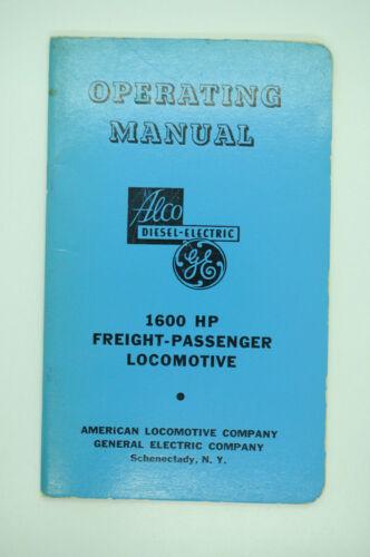 1950 Alco GE FA-2 FPA-2 1600 HP Diesel Electric Road Locomotive Operating Manual