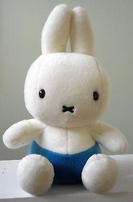 """Dick Bruna MIFFY Bunny Rabbit Plush Stuffed Animal Blue Shorts 9"""""""