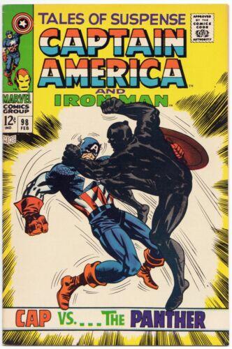 Tales of Suspense #98 Black Panther vs Captain America Large Scans