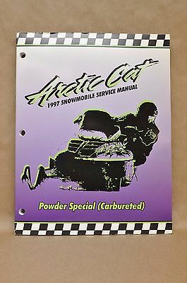 Vintage 1997 Arctic Cat Powder Special Carbureted Snowmobile Service Shop Manual