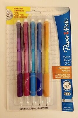 Paper Mate Mechanical Pencils Write Bros Grip New 5 In Pack 0.7mm Pencil Writing