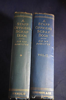 1905 7  Scarce  A Staff Officers Scrap Book V1   V2 Russo Japanese War