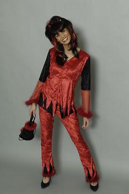 Kostüm Teufelin 2tlg Halloween Teufelskostüm Teufel Gr. 34 36 38 40 42 ()
