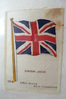 28TH SERIES SILK- UNION JACK FLAG- B.D.V. CIGARETTES SILK (6.6X4.6cm)