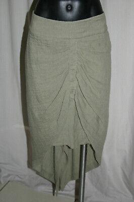 KITX Sea Change Smock Skirt, Army Green, 12, NWT, RRP$429.00