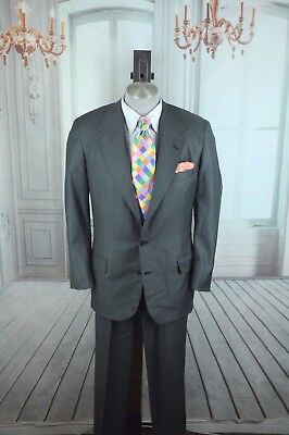 Oxxford Clothes Men's Luxury Gray Dobby Super 120's Wool Suit 40R 40 R for sale  Longwood