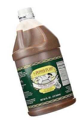 The Pepper Plant Chunky Garlic Hot Pepper Sauce 1/2-gallon Jug 64 Fluid oz. Chunky Garlic Hot Pepper Sauce