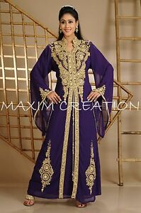 ROYAL Dubai Farasha Moroccan Kaftan Abaya Jilbab Islamic Arabian DRESS 3542