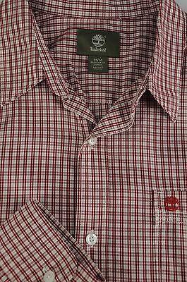 Timberland Men's Red White & Black Geometric Cotton Casual Shirt M Medium