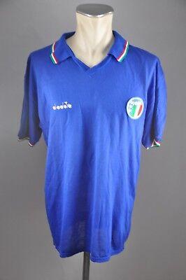 Italien Trikot 1986-1990 Gr. XL Diadora Jersey Italy WM EM Shirt vintage, gebraucht gebraucht kaufen  Bornheim