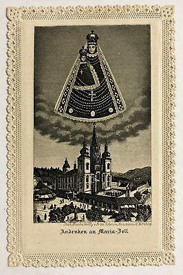 Maria Zell Wallfahrt Heiligenbild Spitzenbild Andachtsbild Österreich (B-7697