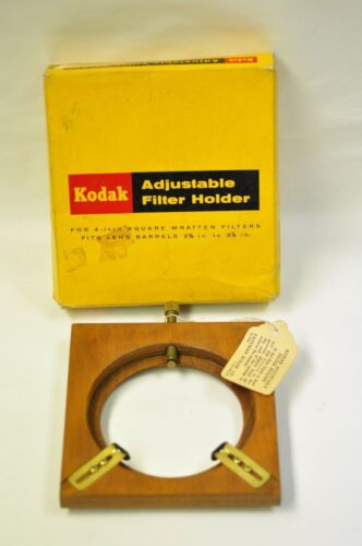 "Vintage Kodak adjustable filter holder for 4"" filters. New old stock in box."