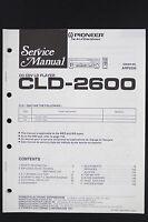 Pioneer Cld-2600 Originale Cd/cdv/lettore Ld Manuale Di Servizio/circuito - pioneer - ebay.it