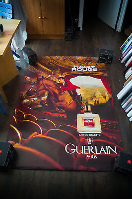GUERLAIN HABIT ROUGE 4x6 ft Shelter Original Vintage Fashion Poster 1997