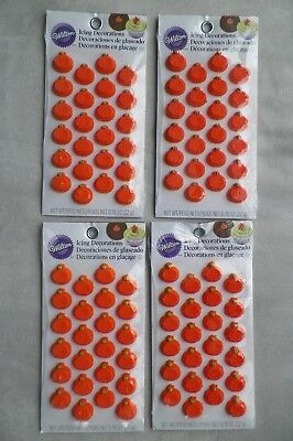 Halloween Orange Cupcake Frosting (Mini Pumpkin Icing Decorations 96 ct from Wilton #1420- MADE IN USA, FREE)