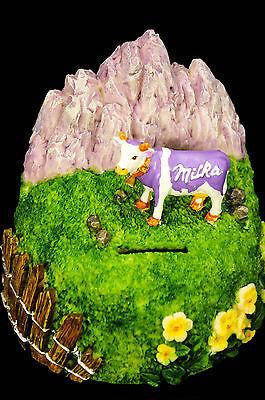 """Milka Schokolade Spardose, Sparschwein, """"ALPEN"""", sehr seltene Ausführung!"""