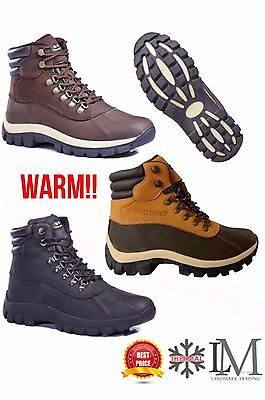 Free Shipping+ Free Socks Men's WlNTER Snow Shoes Work Shoes Leather Waterproof