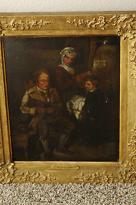 DAVID WILKIE 1785-1841 Scotland,England Oil On Board Of Gentleman with Bagpipes