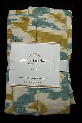 Ikat-sham (Pottery Barn Phillipa Ikat Sham Standard Blue Green  #138)