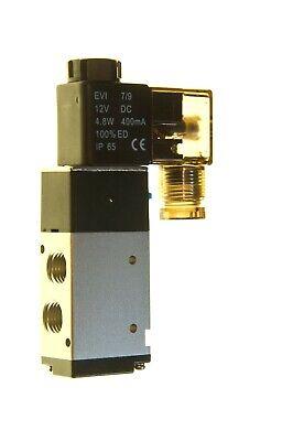 3 Way Pneumatic Directional Solenoid Valve 12 Vdc Coil 14 Npt Work Ports