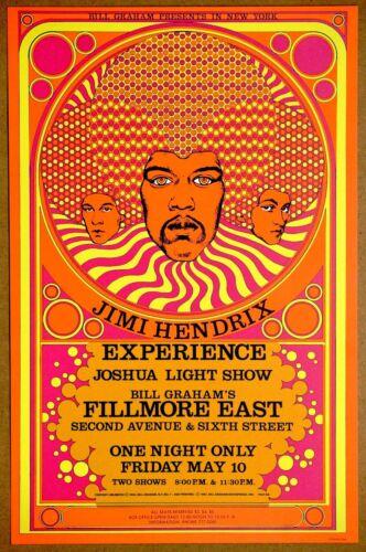 Jimi Hendrix Experience  Fillmore East Original 1968 Vintage  David Byrd