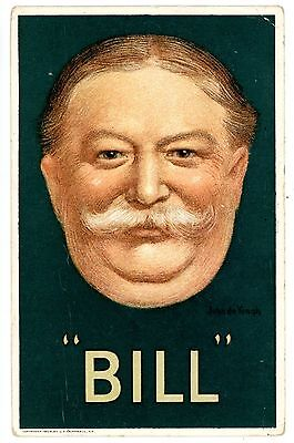 Political Campaign -WILLIAM HOWARD TAFT- Postcard President/Politics