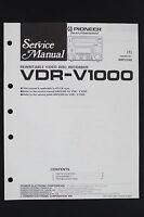 Pioneer Vdr-v1000 Originale Manuale Di Servizio/smontaggio - pioneer - ebay.it