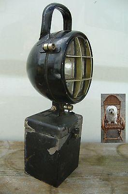 alte Eisenbahnlampe schwer 3,3 Kg Eisen Laterne Eisenbahn um 1900 Jh. Handlampe