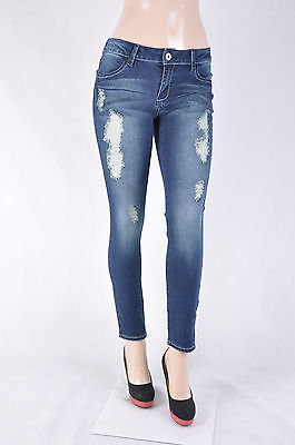 NWT Junior Stretch denim SKINNY slim fit ankle jeans dark denim wash SG-15196-6  ()