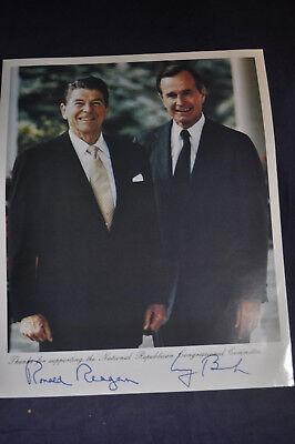 George Bush & Ronald Reagan Press Photo