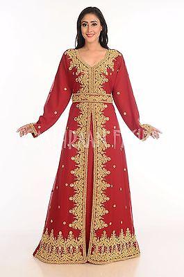 Georgette Elegante Jilbāb Árabe Boda Vestido para Mujer Takshita Vestido 148