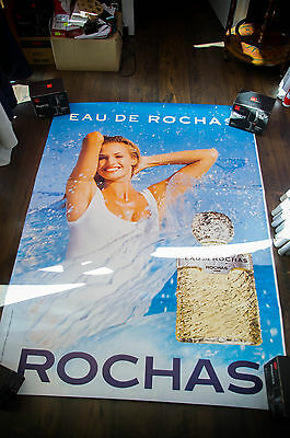 ROCHAS EAU DE ROCHAS 4x6 ft Bus Shelter Original Fashion Vintage Poster 1997