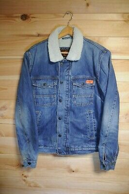 Superdry Sherpa Lined Denim Jacket Large
