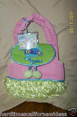 Webkinz Plush Pet Carrier Purse Bag Pink Green Furry