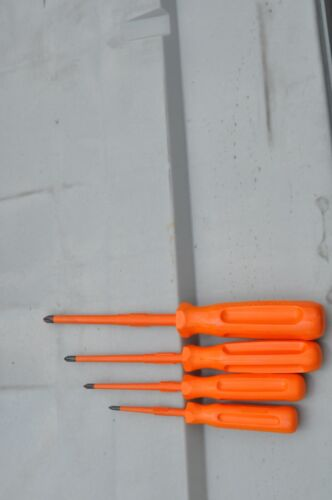 SIBILLE INSULATED SCREWDRIVER SET No. 0-3 SIZE PHILIPS 4Pc SET NEW