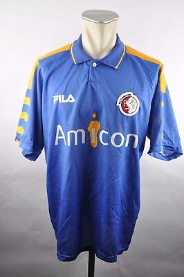 FC Twente Trikot Gr. XL 1998-1999 Away Fila 90er vintage Amicon blau Jersey  image