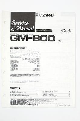 PIONEER GM-800 Originale Amplificatore Manuale di Servizio/Schema elettrico/ - Gm Schemi