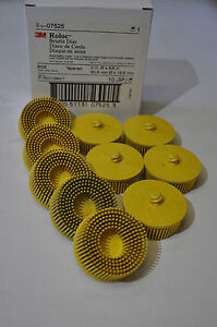 3M-07525-Scotch-Brite-Roloc-Bristle-Disc-PN-07525-2-in-x-5-8-Tapered-MED-10-Pcs