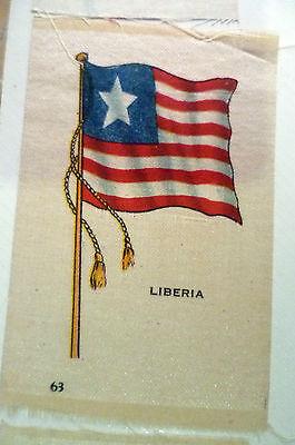 B.D.V. Cigarettes Silk FLAG- LIBERIA FLAG (apx.7x5 cm)