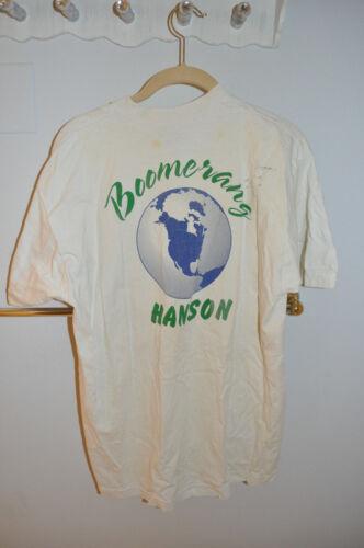 EXTREMELY RARE Hanson Prefame Boomerang Shirt Signed by Isaac and Taylor 1994!
