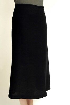 - ISHIKO (OSKA) LONG BLACK SKIRT SIZE 12 (II) Wool blend Maxi fishtail shape