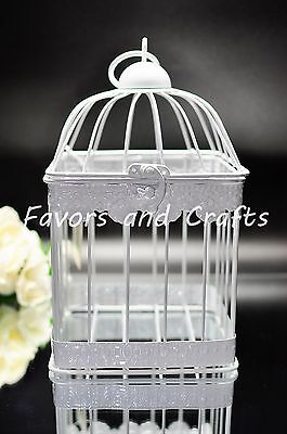 Retro Bird cage  Lantern Wedding Rustic Vintage Centerpiece Set of 2