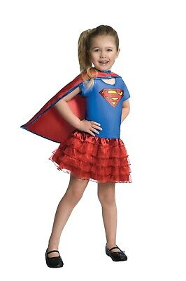 Rubies 3887059 Supergirl Kinder Kostüm - Karneval Halloween - S-M-L - HELDIN