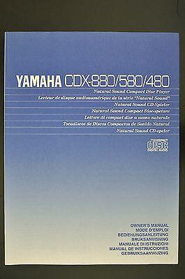 Yamaha CDX880 CDX580/480 Original CD Player Manual/OWNER s Manual
