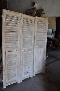 T te de lit persienne ancien patin ref 5674 ebay - Persienne tete de lit ...