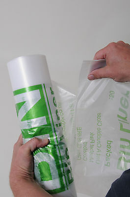 50 LARGE CLEAR EXTRA STRONG KITCHEN SWING BIN LINERS BAGS RUBBISH SACKS 30 LITRE