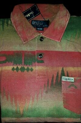 Polo Ralph Lauren Aztec Navajo Tribal Southwestern Beacon Polo Shirt M L 2XL Men