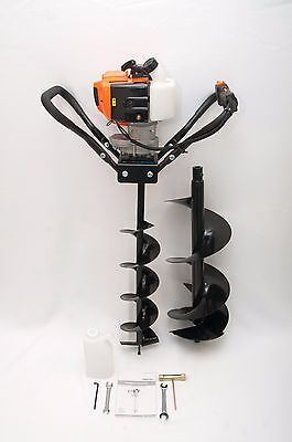 Hand-held Post Hole Digger Earth Auger W 6 10 Bits 43cc 1.75hp Gas Engine